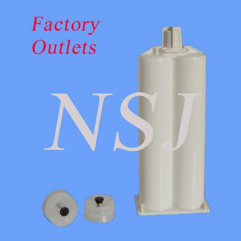 50ml 1:1 Dual Plastic Cartridge, Sealant Cartridge for packing 3M,Henkel, Araldite AB adhsives&sealants in Electronics&Indsutry(China (Mainland))