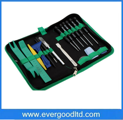 Profession mobile phone repair electricians tool kit BST-112 22PCS hand tools for iPhone iPad HTC Cell Phone Tablet PC(China (Mainland))