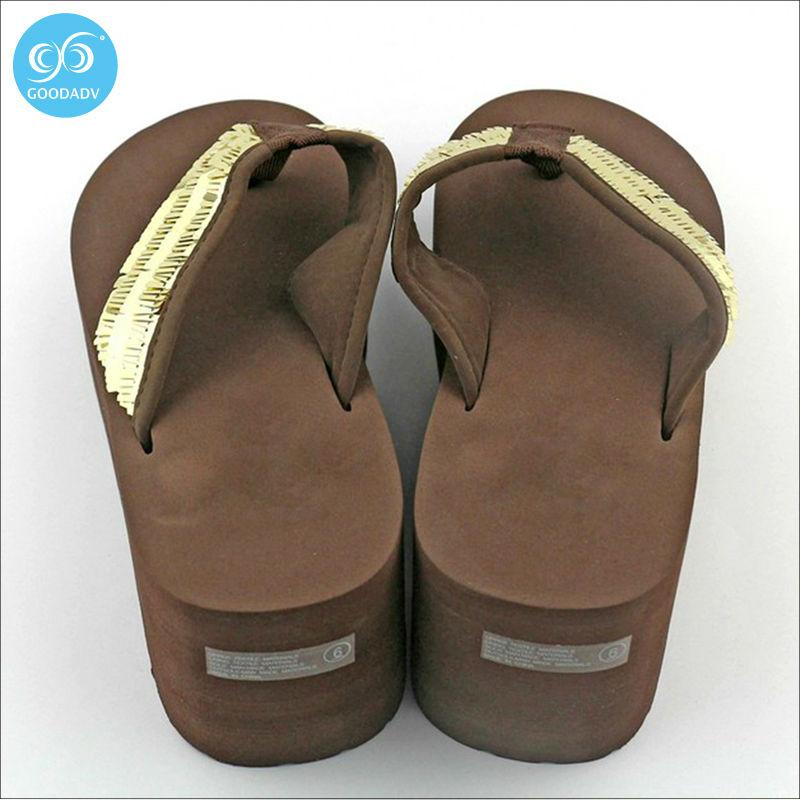 China factory Direct selling New Fashion Summer Women Platform High Heel Flip Flops leisure Slippers Women Shoes(China (Mainland))