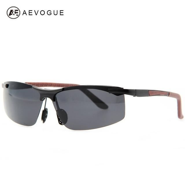 Aevogue бесплатная доставка Al Mg сплава кадр урожай марка спорт поляризованные очки мужчины поляроидный солнцезащитные очки UV400 AE0141