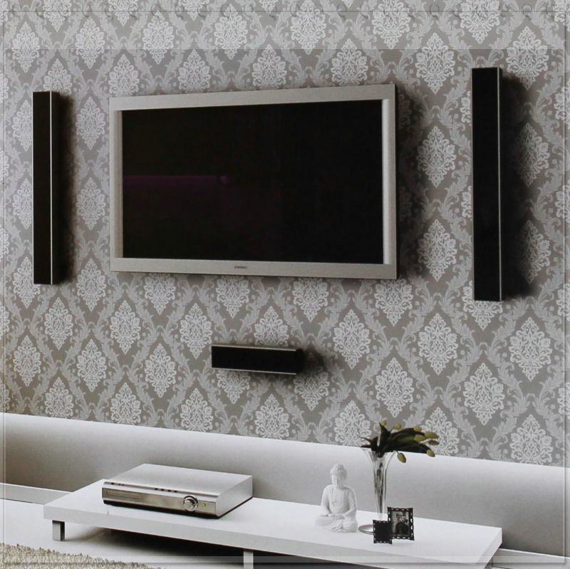 Details about 10M Vintage Grey/Silver Damask Embossed Texture Background Vinyl Wallpaper navy wallpapers(China (Mainland))