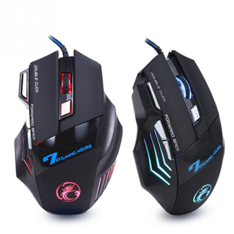 High large wired gaming mouse Mice OPTICAL computer mouse 1600 2400 3200 DPI dota 2 LOL 7 Buttons Gamer Peripherals