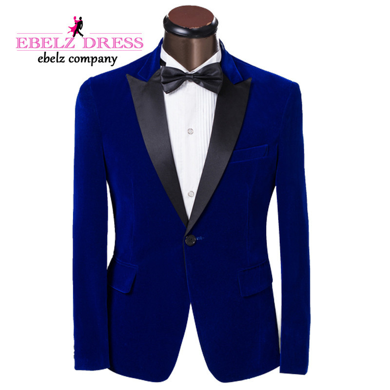 2015 Italian Wedding Groom Tuxedos Blue One Breasted ...