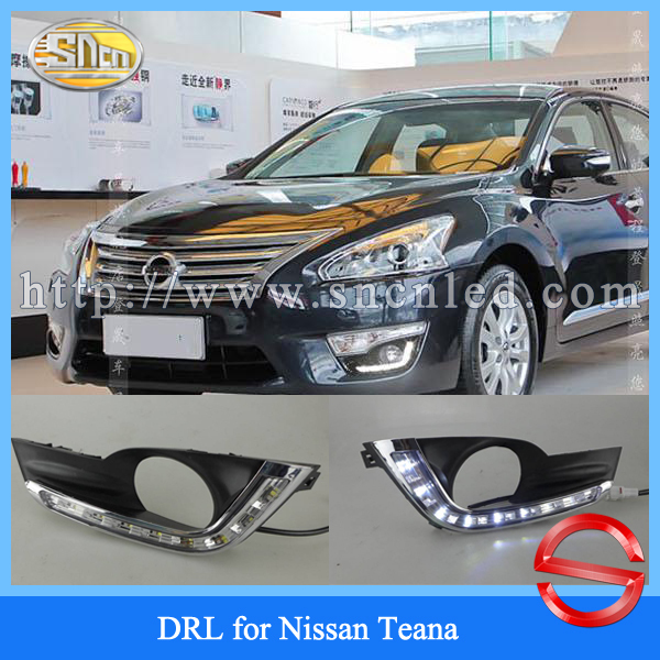 Crazy sales! Auto accessory Daylight fog lamp cover Led DRL Daytime Running lights for Nissan Teana Altima 2015 2014 2013<br><br>Aliexpress