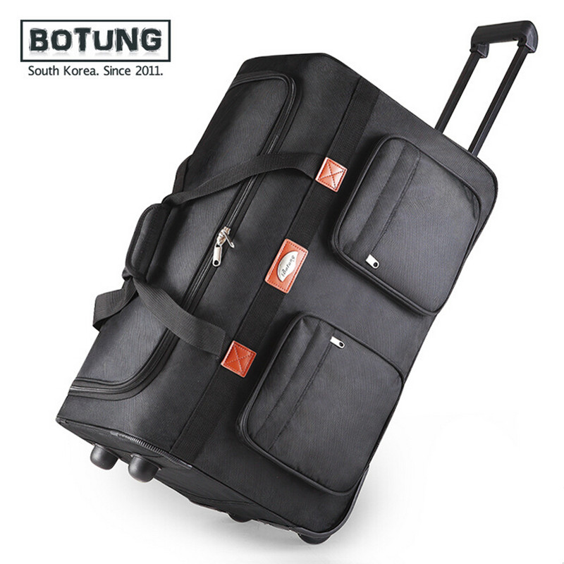 25 32 can be folded oxford black army green trolley luggage bag travel bag,Checked luggage free shipping BT-A1409<br><br>Aliexpress
