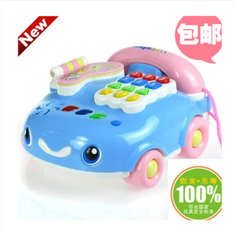 Baby toy telephone baby early learning toy 0-1 year old child music toy mobile phone 1 - 3(China (Mainland))