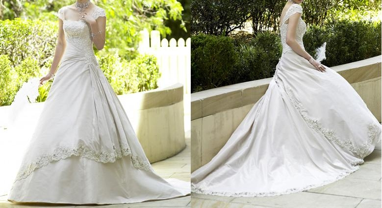 Romantic wedding dress of australian designer ms 1047 in for Romantic wedding dress designers