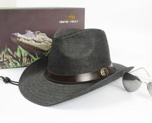 Hot Selling New Stylish Western Cowboy Trilby Fedoral Unisex Women Men Straw Cap Wide Brim Sun