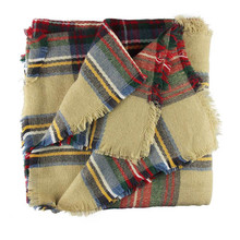 Stylish Hot Wool Blend Blanket Oversized Tartan Scarf Wrap Shawl Plaid Checked Pashmina