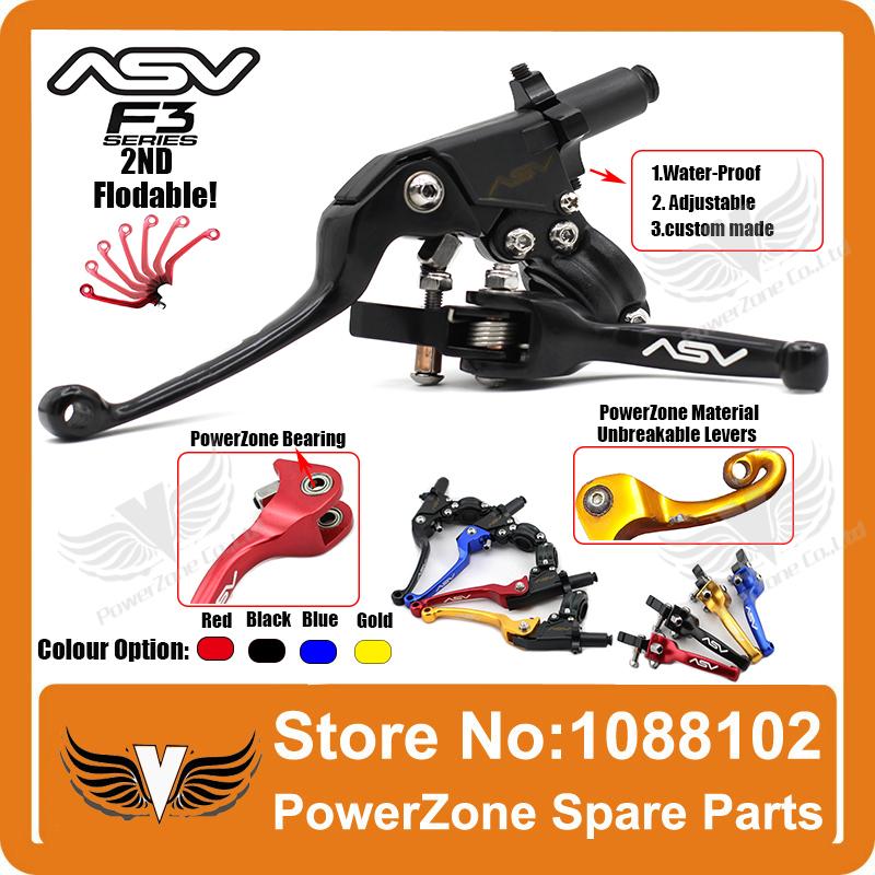 Free Shipping Aluminum ASV F3 Series 2ND Clutch &amp; Brake Folding Lever Fit Most  Motorcycle ATV Dirt Pit Bike WR CRF KLX YZF RMZ<br><br>Aliexpress