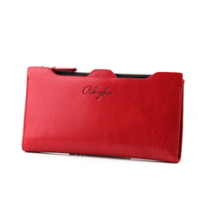 New Winter Faux Leather Women Wallets 9 Colors Fashion Zipper Long Wallet Clutch Ladies Casual Slim Change Purses Card Holder(China (Mainland))