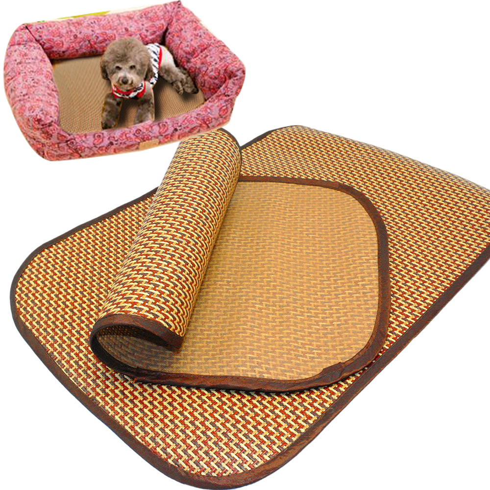 Pet Dog Self Cooling Mat Pad for Kennels Crates and Beds Bamboo Ice Mat for Keeping Dogs Cool in Summer(China (Mainland))