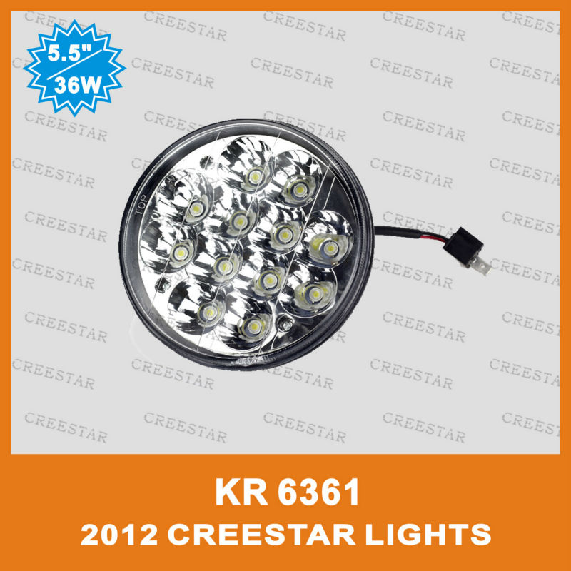 """NEW design 5.5"""" round led truck light 36w led truck lights From creestar KR6361 5"""" round high/Low beam(China (Mainland))"""