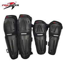 2016 PRO-BIKER black Motorbike Racing Motorcycle Protector Motocross Bike Atv Knee Elbows Pads Guards Set Protective Gear