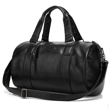 Famous brand leather men's sport bag fashion barrel shoulder messenger men travel bag basketball bag maletas duffle tote TB00028(China (Mainland))