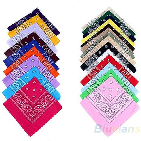 Free Shipping hip-hop bandanas for Male female men women head scarf Scarves Wristband New Cotton 100% 01UW(China (Mainland))