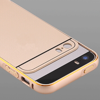 with for Apple for iphone LOGO !! Metal Aluminum Acrylic Cover for iphone5 5G Accessories Hybrid Hard Back Case for iphone 5 5S(China (Mainland))