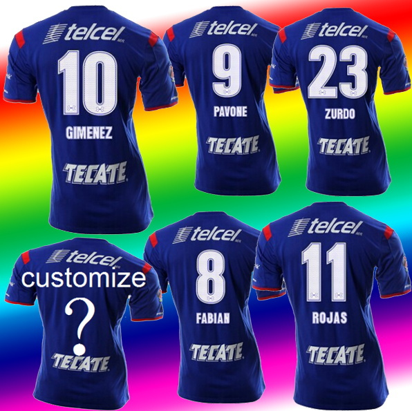 free shipping 2015 Cruz Azul de Mexico and Thailand quality soccer jersey 14/15 home shirt Blue Cross Blue soccer jerseys(China (Mainland))