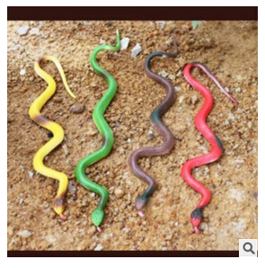 Snake Toy Hot sale!Halloween Gift Creative Toy Prank Gift rubber Snakes Toy Serpent Jouet(China (Mainland))