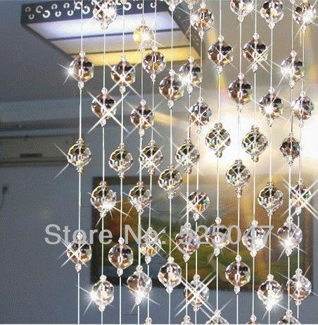 Cristal perles de rideau pour la partition porte d 39 entr e d coration de la maison rideaux en - Rideaux de perles pour portes ...