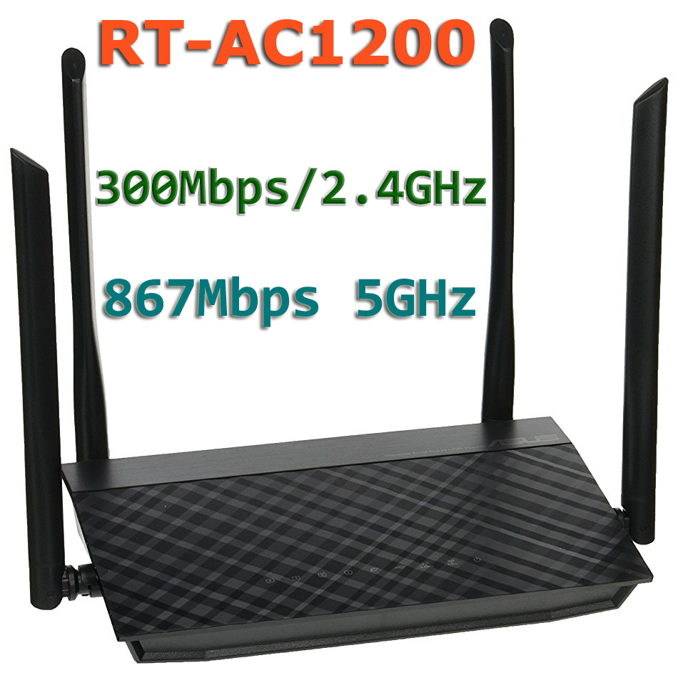 RT-AC1200 802.11AC 1200Mbps (300Mbps/ 2.4GHz + 867 Mbps/5G) Dual-Band Wireless WiFi Router Access Point 4x 5dBi Antenna