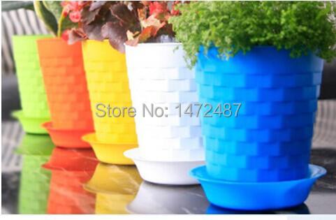New 2014 colorful resin mini flowers pots plastic bonsai Colorful pots for indoor plants