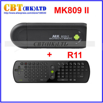 2013 New arrival !  TV Stick MK809 II Android 4.1 Mini PC HDMI Dual core 1GB RAM 8GB Bluetooth MK809II 3D + Fly air mouse RC11