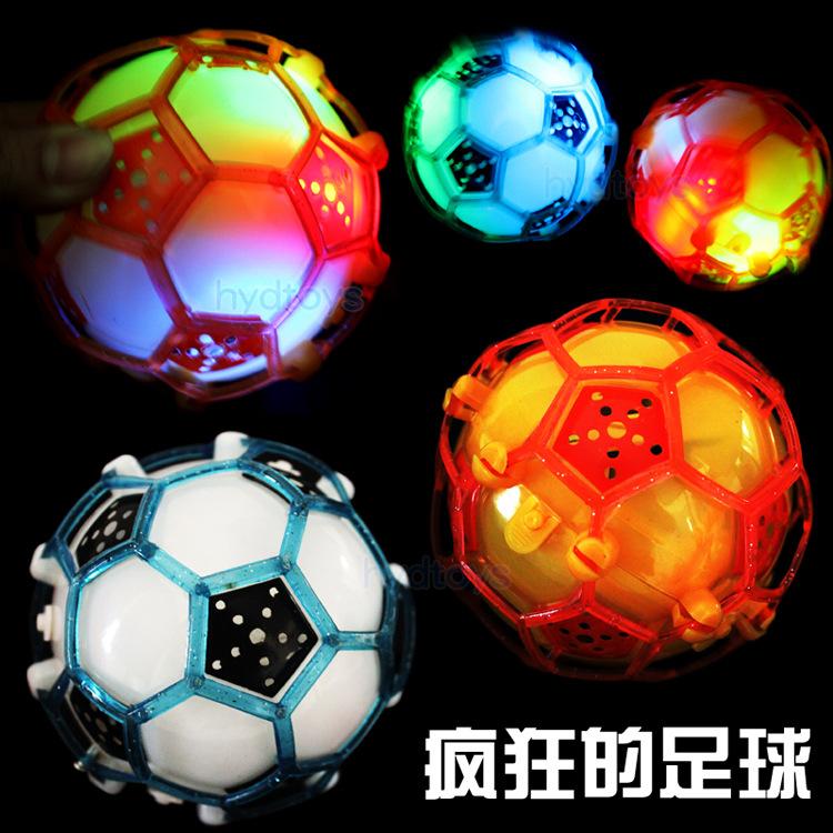 Electric light-emitting light-emitting toys will dance football soccer ball jumping flea market selling music toys(China (Mainland))