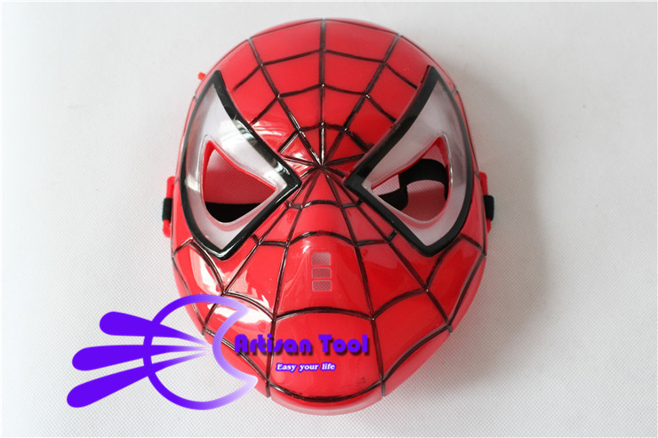 Spiderman Mask with LED Blue Light for Masquerade Party Spider Man Mask Halloween Cosplay Mask