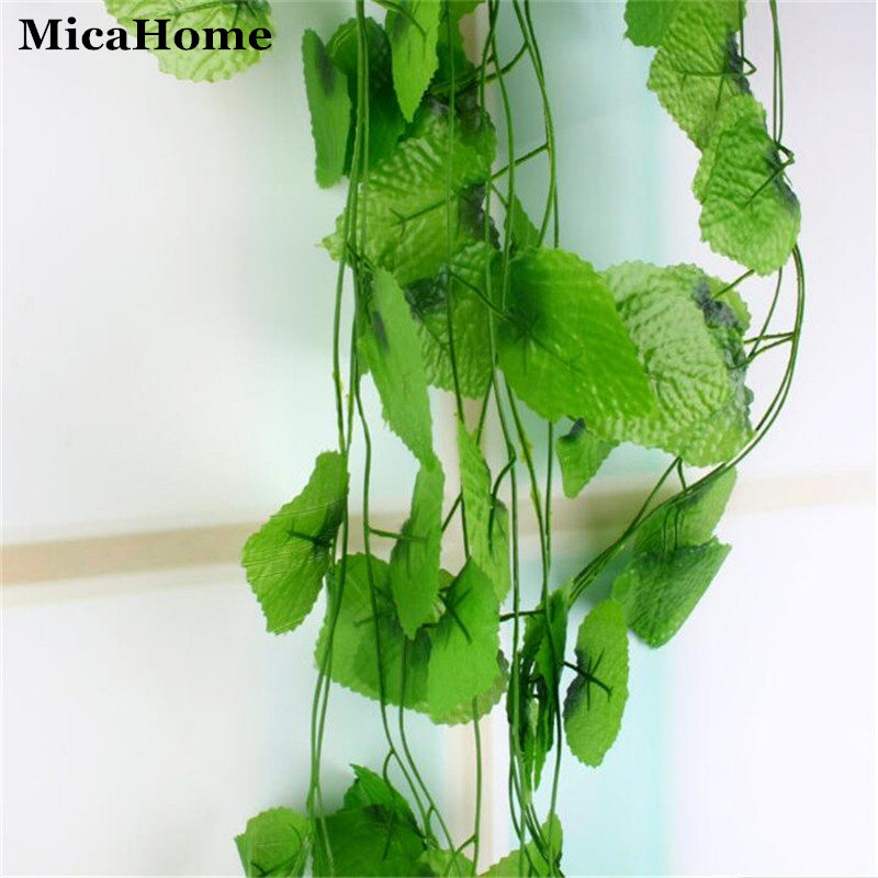2.4 meter Artificial Plants Grape Leaves Vines Fake Plant Grass for Wedding Party Home Decoration Gift Graft DIY Hanging(China (Mainland))