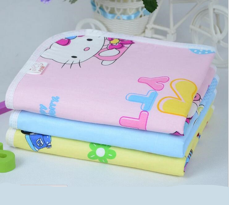 5pcs/lot  New Cute cartoon animal Baby Portable Foldable Washable Compact Travel Nappy Diaper Changing Mat/Compact Size:34X45cm <br><br>Aliexpress