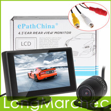 """4.3"""" Color Car Parking Kit With TFT LCD Display Car Monitor 480 x 272  + Waterproof Rear View Car Camera For Reverse Parking(China (Mainland))"""