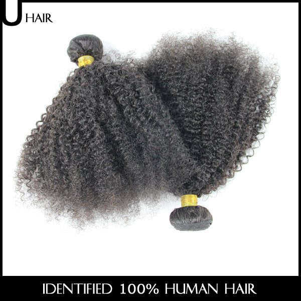 Необработанные Kinky Curly Human Hair Weave Afro Kinky Curly Hair 2PCS Bresilien Cheap Kinky Curly Virgin Hair Bundles 1ACB01