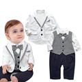 Baby Boy Clothes Children Clothing Sets Cotton Suit Jacket Tie Baby Rompers Little Gentleman Vetement Enfant
