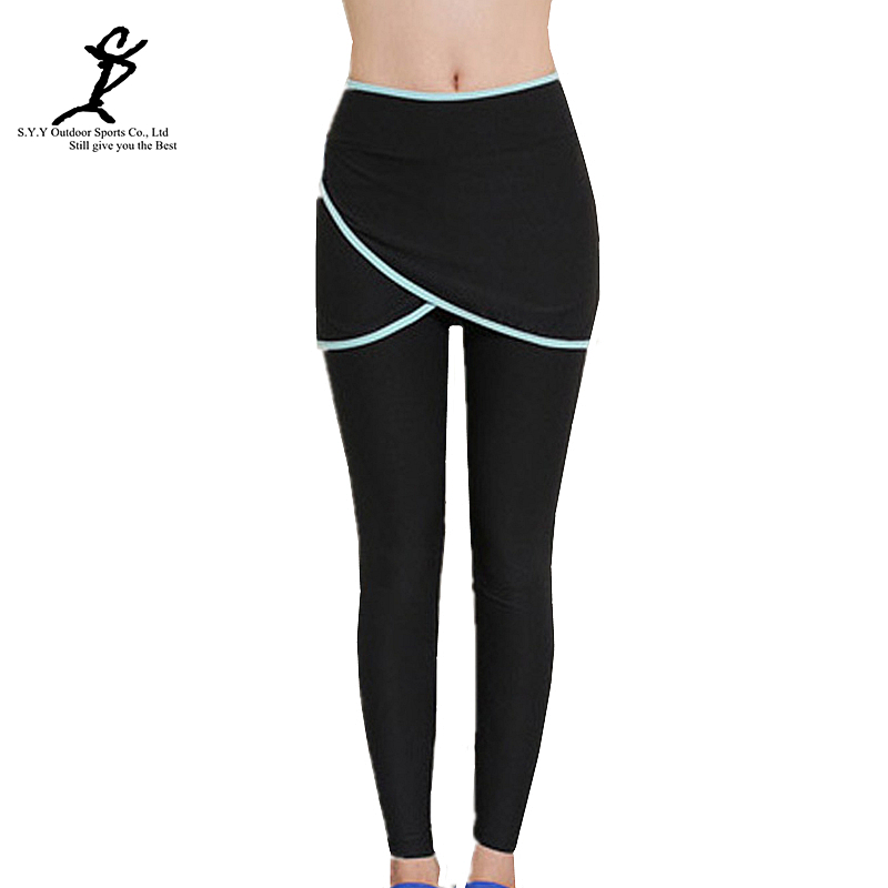 Hot Women Sports Running Leggings New Professional Fitness And Yoga Skorts Tights Hot Female Gym Pants Training Tennis Skirts(China (Mainland))