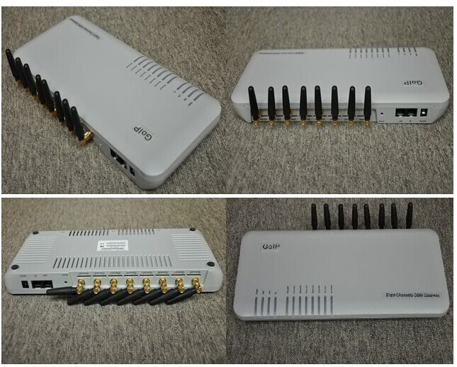 Best Sale 8 Port gateway GOIP-8 VOIP Gateway Highly stable embedded Linux operating system in high performance ARM 9 Processor(China (Mainland))