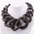 Trendy Jewelry costume necklace Big Chain Matte color chain necklace NK1004