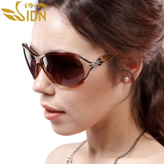 The left bank of glasses fashion polarized sunglasses big box star leopard print women's sunglasses 1033