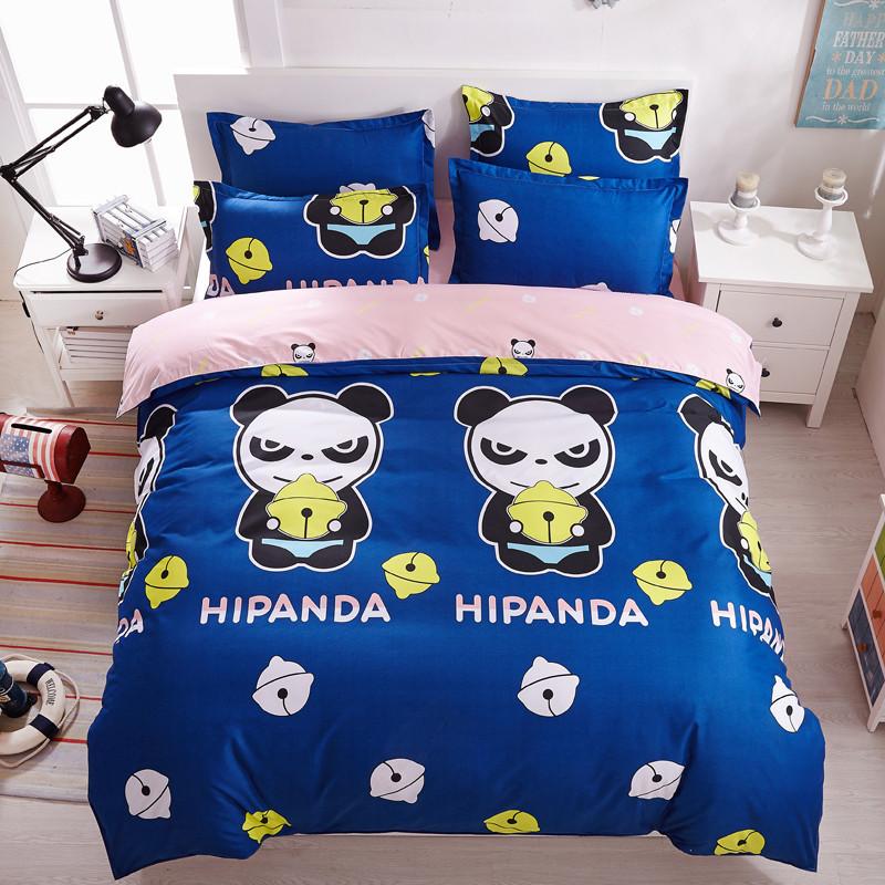 panda couette promotion achetez des panda couette. Black Bedroom Furniture Sets. Home Design Ideas