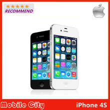 Original Apple Refurbished Unlocked iPhone 4S cell phone 8GB ROM iOS GPS WiFi WCDMA 8MP GPRS With Gifts by Free Shipping(China (Mainland))