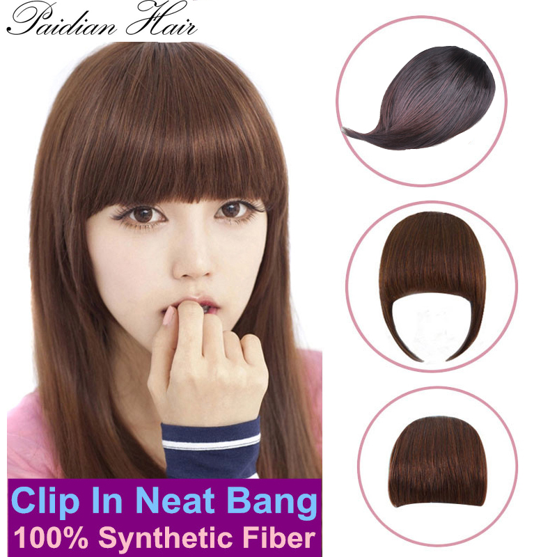 12Style Free Shipping Sexy Women Girl False Wig Full Bangs Hair Pieces Extensions Clip in on Girls High Quality Fringe For Human(China (Mainland))