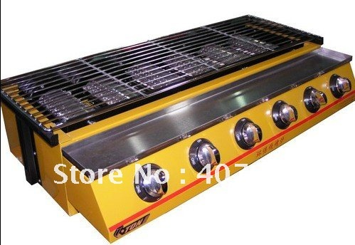 GAS BBQ barbecue grill  Roster Radiant Charbroiler in 6 burners environmental device  good for outdoor