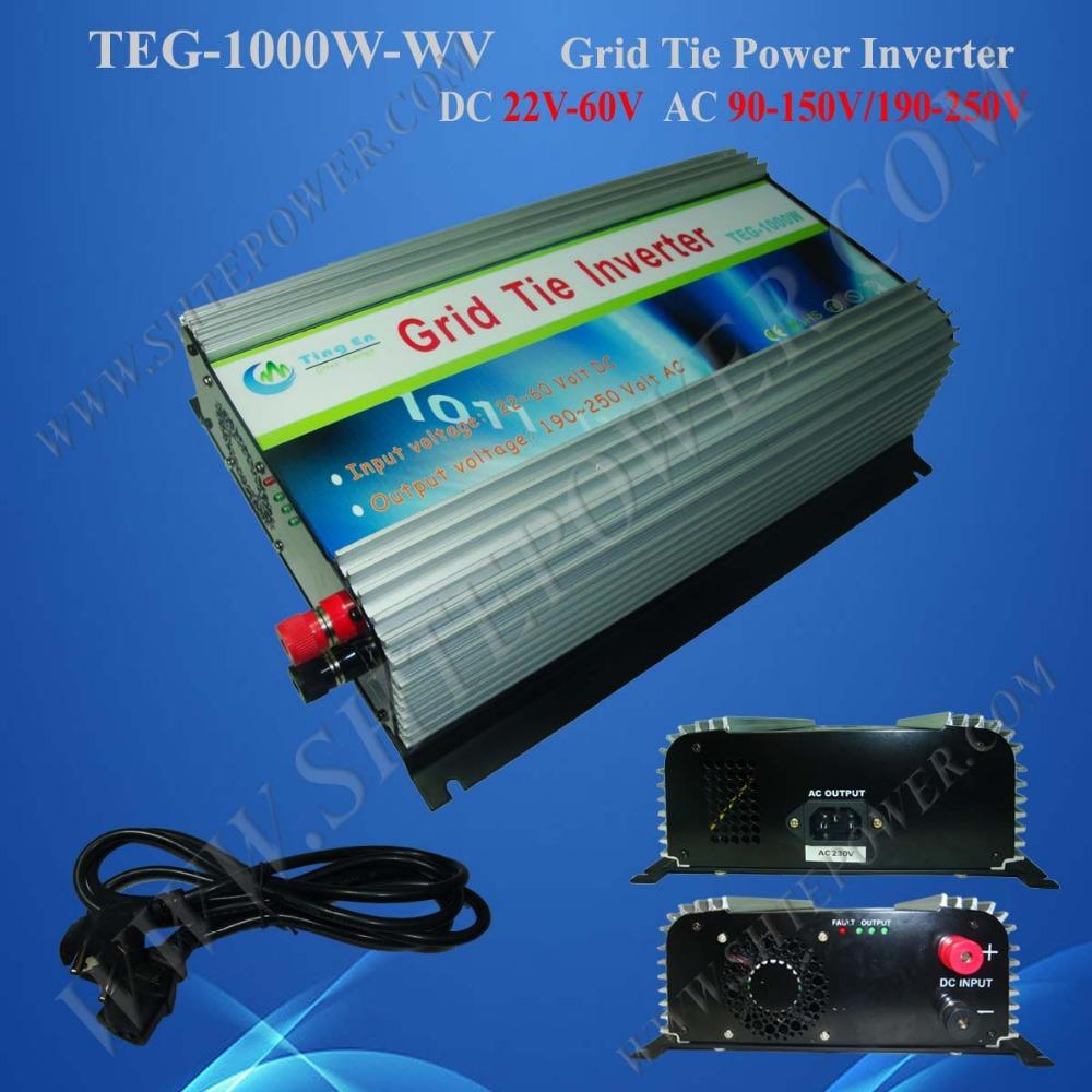 DC 22-60V to AC 110V 120V 220V 230V 240V 1kw PV Grid Tie Solar Connected Inverter(China (Mainland))