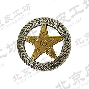 26 mm silver plated brass five-star carve patterns or designs on woodwork surface decorative button (small screws)(China (Mainland))