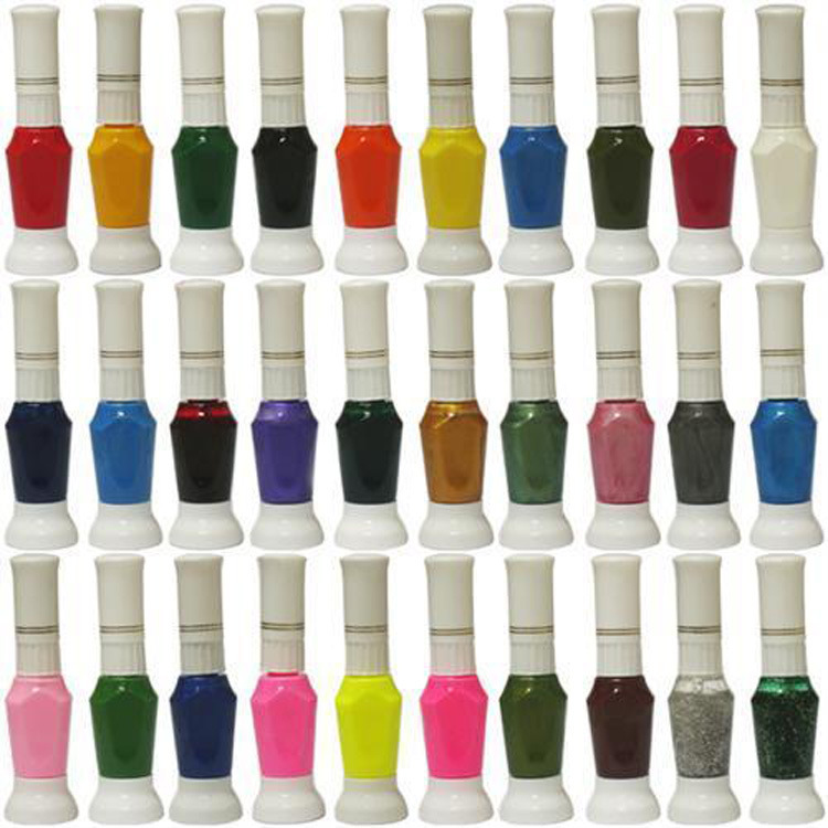 wholesale latest edition nail polish 60 Color available 2-Way DIY Polish Nail Art Pen Varnish with Brush 60pcs/set free shipping(China (Mainland))