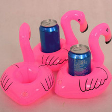 Cute Pink Inflatable Flamingo Floating Drink Phone Holder Pool Beach Party Suppliers Hot(China (Mainland))