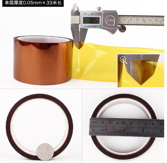 Hot Sale 40mm x 30m Adhesive Tape High Temperature Heat Resistant Polyimide tape 260-300 Degree for Electronic Industry