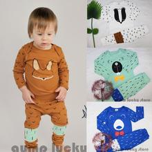 2015 Kids Mini rodini Pajama sets Toddler's T-shirt +pants 2pcs for girls boys Bobo Choses fille enfant vetement  Auntumn&winter(China (Mainland))