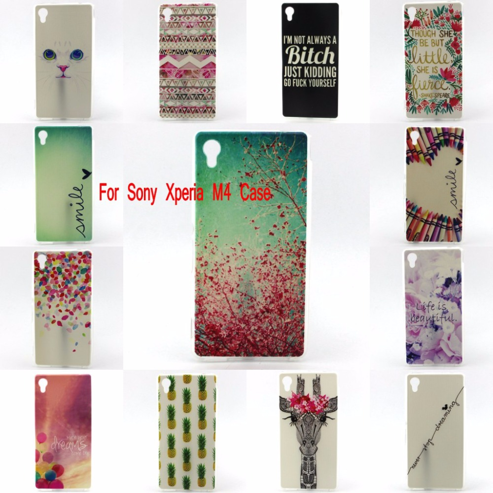 For Sony Xperia M4 Aqua font b Phone b font Case TPUBag Protective Cover For Sony