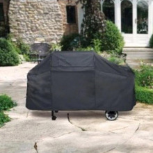 Universal Outdoor Waterproof BBQ Cover Garden Gas Charcoal Electric Barbeque Grill Protective Cover 145X61X117cm Black  (China (Mainland))